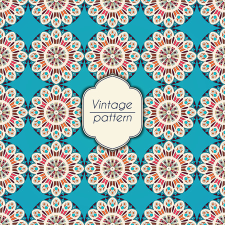 Abstract colorful geometric seamless pattern. Floral background texture Stok Fotoğraf - 104700530