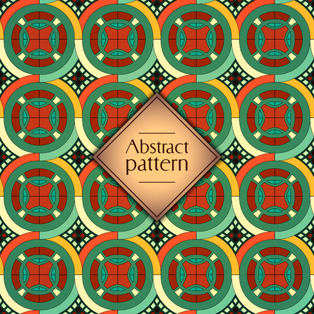 Abstract colorful geometric seamless pattern. Floral background texture Stok Fotoğraf - 104700543