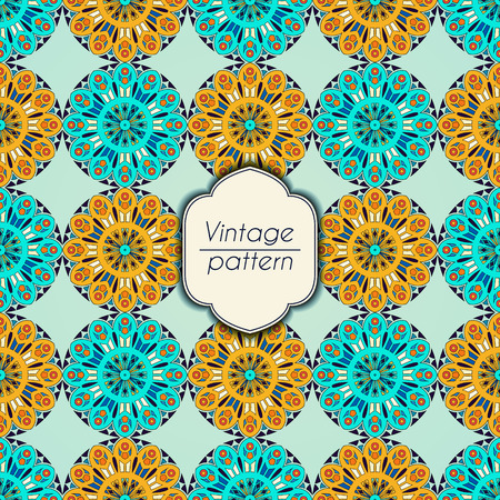 Abstract colorful geometric seamless pattern. Floral background texture Stok Fotoğraf - 104701266
