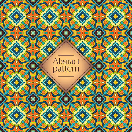 Abstract colorful geometric seamless pattern. Floral background texture Stok Fotoğraf - 104700597