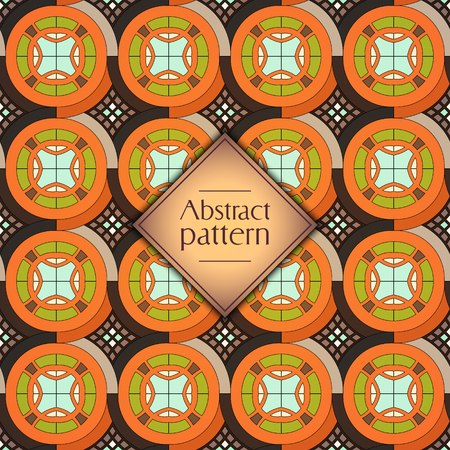 Abstract colorful geometric seamless pattern. Floral background texture Stok Fotoğraf - 104700815