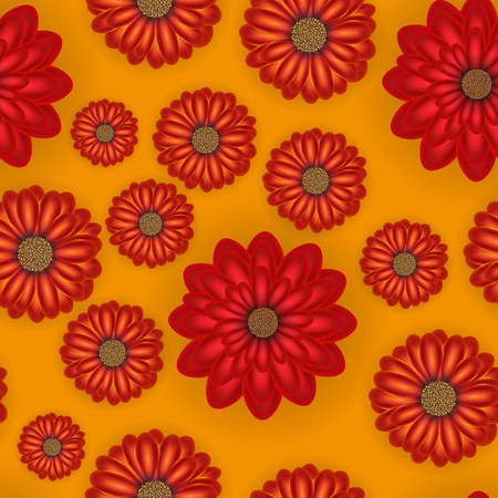 Beautiful seamless floral realistic colorful pattern. Flower vector illustration