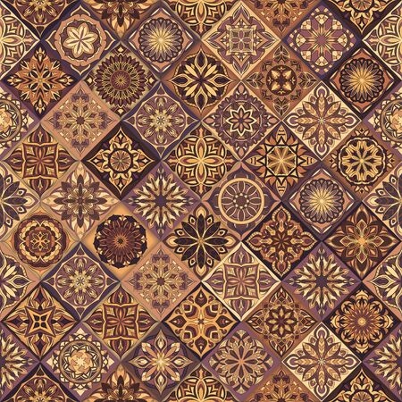 Ornate floral seamless texture, endless pattern with vintage mandala elements. Can be used for wallpaper, pattern fills, web page background, surface textures.Islam, Arabic, Indian, ottoman motifs. Çizim