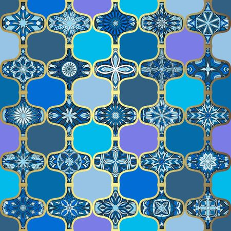 Ornate floral seamless texture, endless pattern with vintage mandala elements. Can be used for wallpaper, pattern fills, web page background, surface textures.Islam, Arabic, Indian, ottoman motifs. 向量圖像
