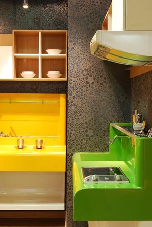kitchenette: kitchen to use Stock Photo