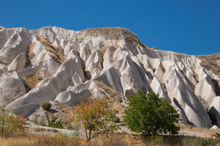 the crags: Unusual crags in Cappadocia, Turkey, a historical region in Central Anatolia