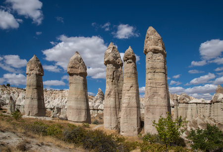 anatolia: Rocks in the form of a penis in Love Valley in Cappadocia, a historical region in Central Anatolia in Turkey