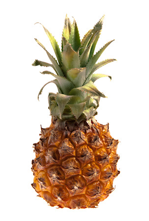 clr: Small pineapple isolated on white Stock Photo