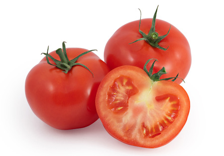 two and a half: Tomatoes - two and a half Stock Photo