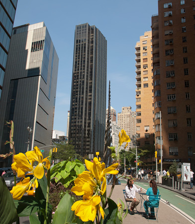 broadway tower: View of the Trump International Hotel and Tower from Broadway, New York, USA, September 2012