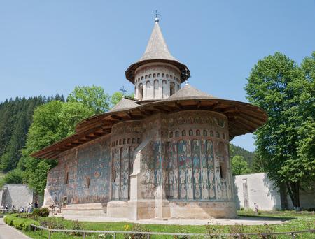rumania: Voronets monastery in Romania in the town of Gura Humorului, Moldavia