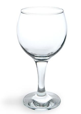 One empty wine glass