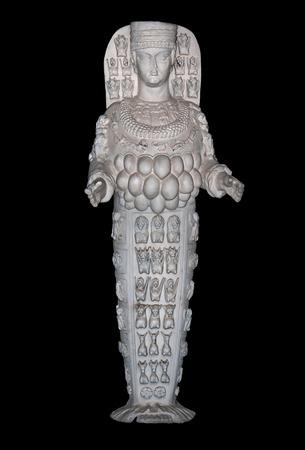 fertility goddess: Statue of Artemis, goddess of fertility, at Ephesus, Turkey Stock Photo