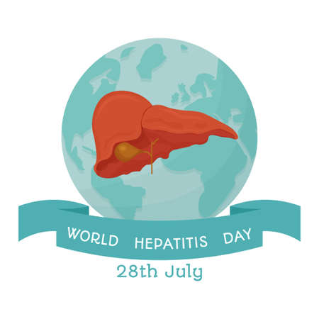 World hepatitis day background template stock vector illustration. with minimalist and modern concept, cover, international. Healthcare, medical examination concept