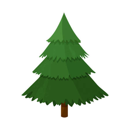 Furtree, cartoon style, bright detailed isolated on white background
