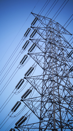 high voltages tower Stock Photo