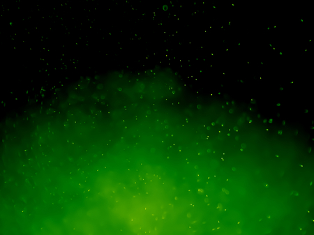 green lemon bokeh abstract background and texture Stock Photo