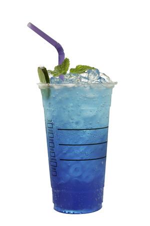 blue hawaiian drink: Blue HawaiiBeverage blue isolated on white background