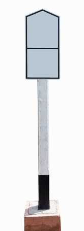 actual: Actual white reflective street sign blank for copy space