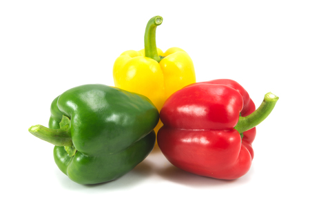 bell peper: sweet peppers isolated on white background