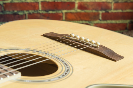 fragment: Fragment acoustic guitar closeup