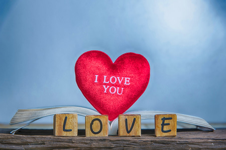Letters spelling love.  Wooden letters spelling love  Stock Photo