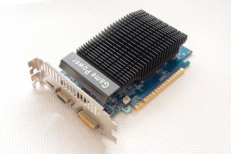 Graphics card on white background, Graphics card Gaming