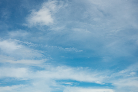 blue sky with cloud. sky blue background. Banco de Imagens