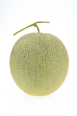 cantaloupe melon isolated on white background. Green melon and  isolated on white 免版税图像
