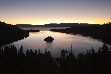 Emerald Bay after sunset, South Lake Tahoe, California, USA Stock Photo - 12937096