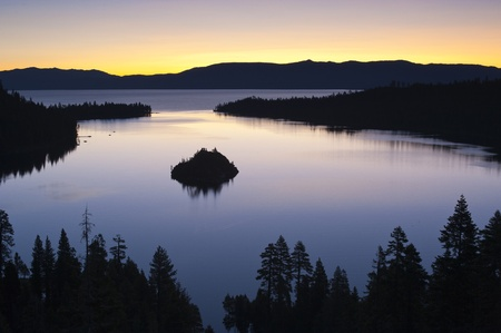 Emerald Bay after sunset, South Lake Tahoe, California, USA Stock Photo - 12937113
