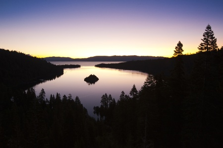 Emerald Bay after sunset, South Lake Tahoe, California, USA Stock Photo - 12936372
