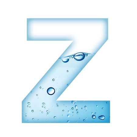 bubble letters: Alphabet letter made from water and bubble  Letter Z