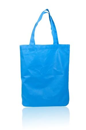 handlers: Blue reusable shopping bag