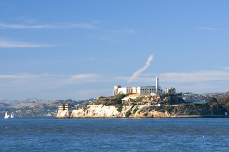 Alcatraz island in San Francisco bay, California Stock Photo - 17081797