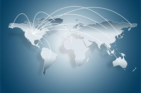 north china: travel world map  Business concept for growth