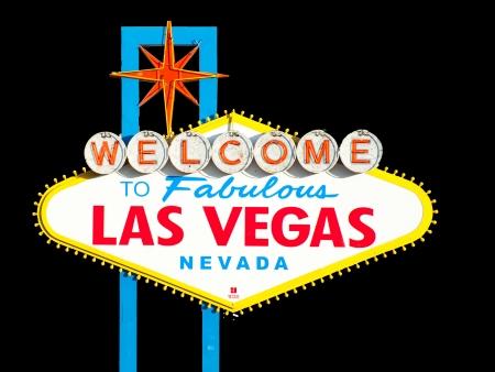 유명한 라스 베이거스에 오신 것을 환영합니다 서명에 오신 것을 환영합니다 스톡 사진