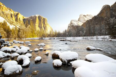 Yosemite National Park in Winter  Valley View photo