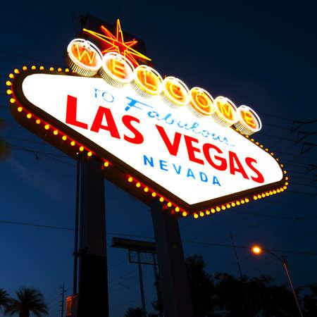 las vegas night: Welcome to Las Vegas Sign at night