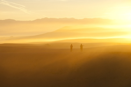 Death Valley Sand dunes at sunrise photo