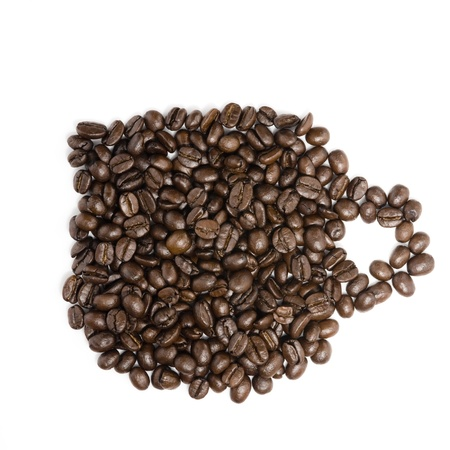 Coffee Beans forming cup photo