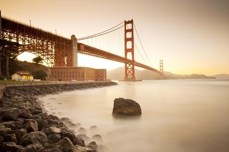 golden gate: Golden Gate bridge long shutter speed long exposure