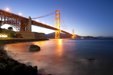 bridges: Golden Gate bridge long shutter speed long exposure