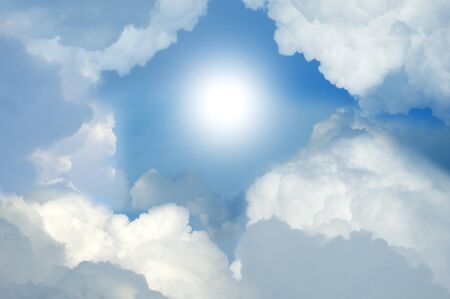 Cloudy Sky with Sunlight  photo