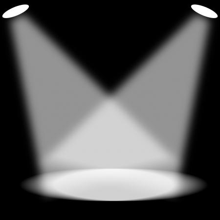spotlight: Spotlight on empty dark room
