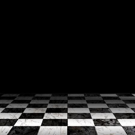 schwarz weiss kariert: Schwarz-Wei�-Check Grunge Zimmer Lizenzfreie Bilder
