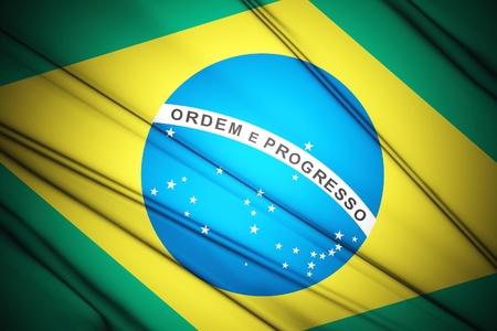 brasil: Brazil Waving Flag