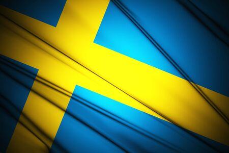 sweden flag: Svezia bandiera Archivio Fotografico