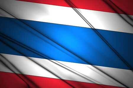 Thailand Wavy flag Stock Photo - 13484640