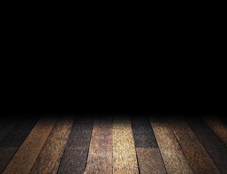 Wooden floor in dark room Stock Photo - 14257087